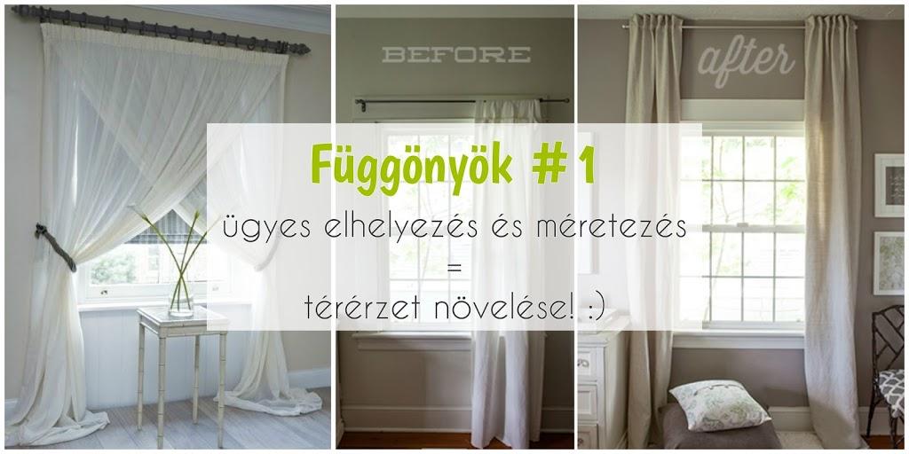 Függönyök #2 – csíkok, függönyelkötők és vitrázs függönyök (cafe curtains)